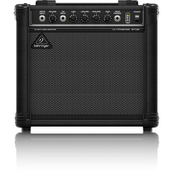 "AMPLIFICADOR DE BAJO Ultra-Compact 15-Watt Bass Amplifier with VTC-Technology and Original 8"" BEHRINGER"