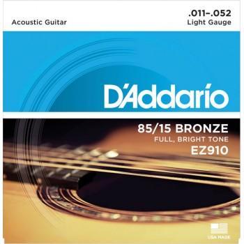 D'Addario Cuerdas Guitarra Acústica, Blandas, 11-52