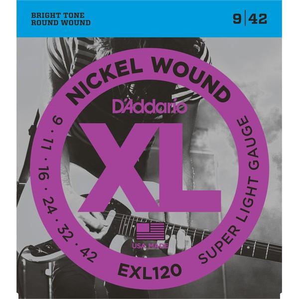 D'Addario Cuerdas Guitarra Eléctrica, Extra Blandas, 9-42
