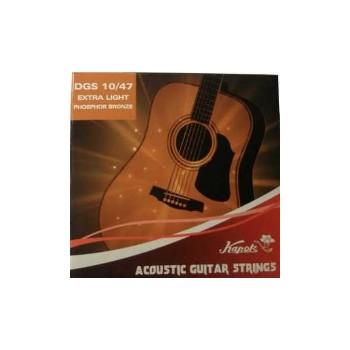 Kapok cuerdas Guitarra Acustica 010-047