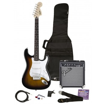 GUITARRA ELECTRICA Pack Strat Squier Affinity sunsburst