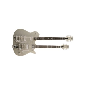 GUITARRA ELECTRICA G5265 Electromatic  Jet Double Neck, Rosewood Fingerboard, Silver Sparkle GRETSCH